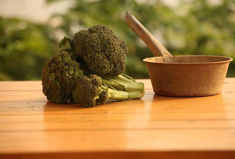 Aliments santé bouquet de brocolis