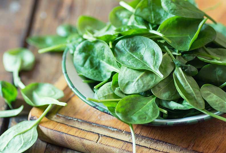 Les épinards sont des Aliments sans gluten