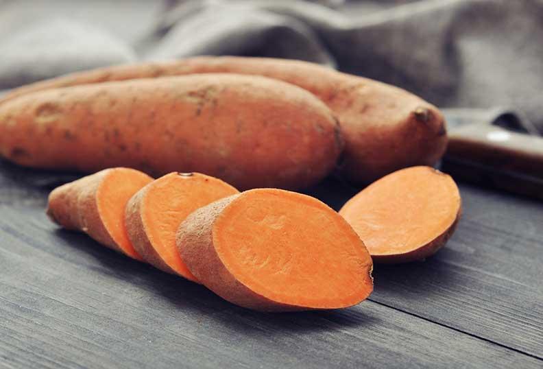 Les patates douces sont des aliments sans gluten