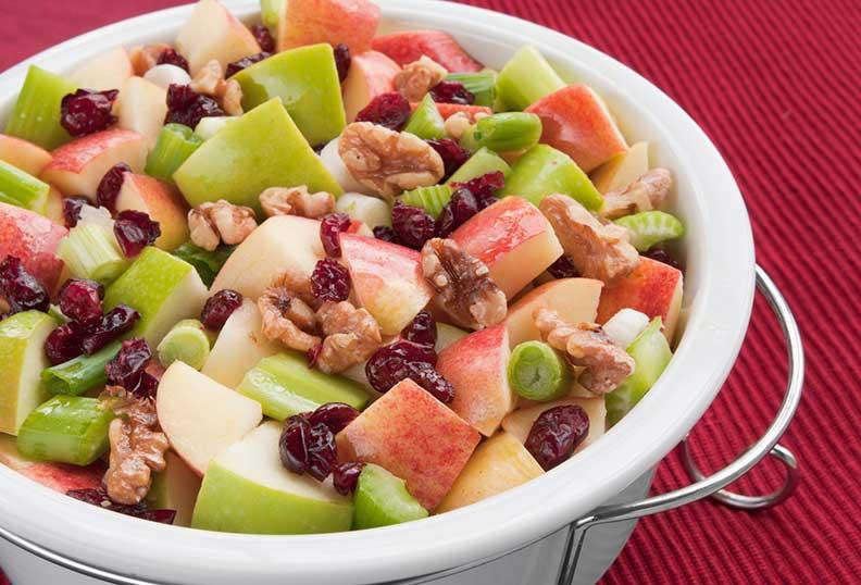 Recette sans gluten - Salade de céleri pomme et noix
